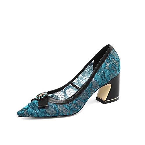 Jieeme Donna Cinturino Zh5101 Caviglia Alla Blue Con WOFWU4pn
