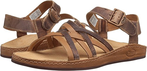 Chaco Women's Fallon Sandal, Toasted Brown, 9 M (Brown Leather Woman Sandal)
