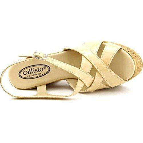 Callisto Women's Dona Strappy Platform Sandals Nude H9w5moF
