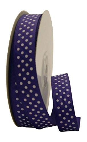 Ribbon Bazaar Grosgrain Swiss Dots 5/8 inch Purple 25 Yards Ribbon
