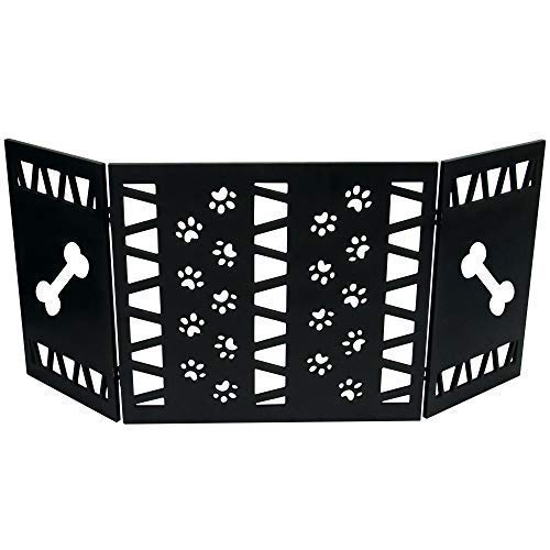 Hoovy Freestanding Decorative Pet Gate Folding Extending Dog Puppy Gate for Home Office Use Keeps Pets Safe Restricted to an Area No Assembly Required
