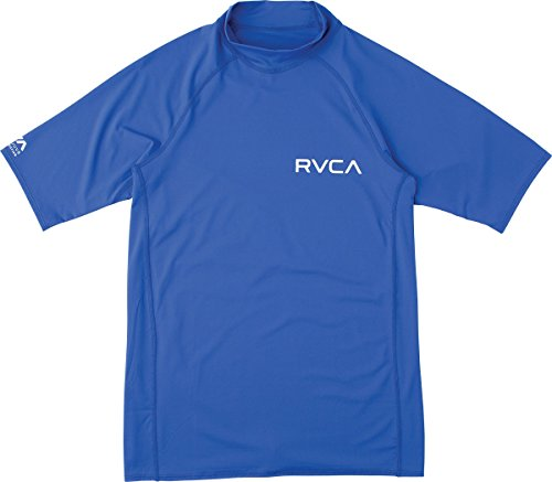 RVCA Mens Solid Short Sleeve Rashguard