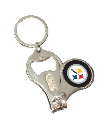NFL Pittsburgh Steelers 3-in-1 Nailclipper Keychain by Simran International