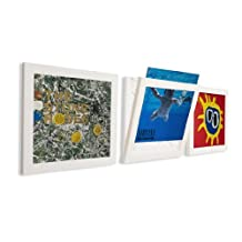 Art Vinyl Play and Display Record Frame, 3-Pack, White