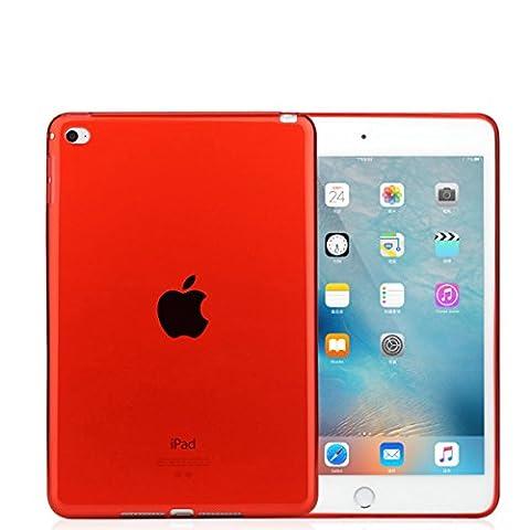 iPad mini Case, iCoverCase Ultra-thin Silicone Back Cover Colorful Clear Plain Soft TPU Gel Rubber Skin Case Protector Shell Apple iPad Mini 1/2/3 (Ipad 3 Soft Gel Case)