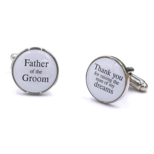 LParkin Wedding Gift Cuff Links -Father of the Groom, Thank You For Raising The Man of My Dream (Father Of The Groom Gifts)