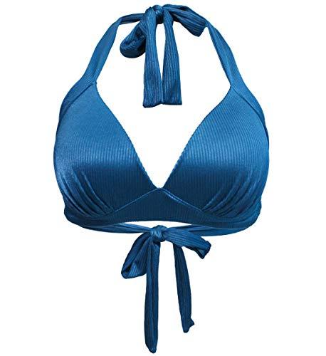 Halter Bust - futurino Women's Vintage 50s Plaid Pattern Halter Bikini Top Swimsuits