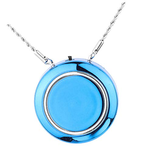 Fityle Portable Wearable Air Purifier Personal USB Necklace Ionic Air Purifier, Rechargeable Ionizer, Mini Fresh Air Supplier – Blue