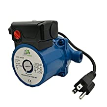 BOKYWOX 110-120V Circulation Pump 3/4'',3-Speed Hot Water Circulating Pump (RS15-6,Blue)