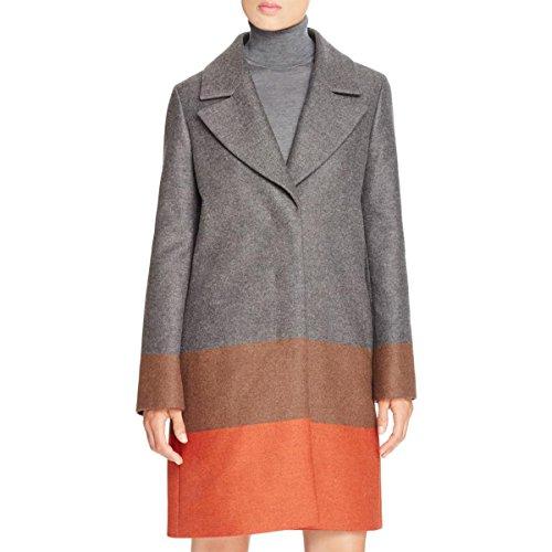 Hugo Boss Womens Colora Wool Textured Pea Coat Gray 8