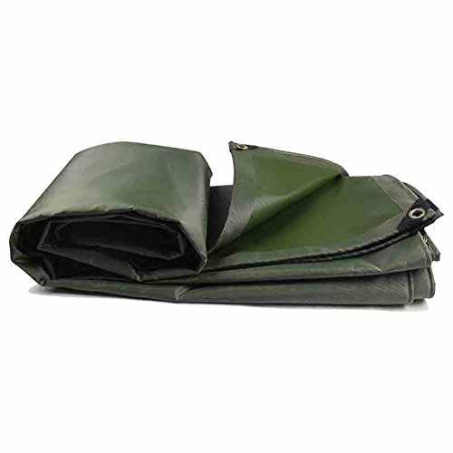 Tarpaulin YXX- Durable Waterproof Heavy Duty Rainproof Cloth Thicken Trap Ground Sheet Covers Truck Insulation Outdoor Canvas Tent Splice Awning Sun Shade-Green,580G/M² (Size : - Bracket Splice