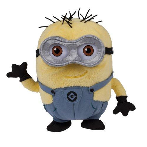 (Official 2013 Despicable Me 2 Dave Jorge Two Eye Minion Mini Plush Doll)