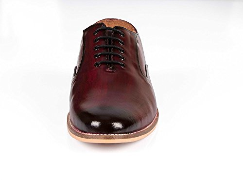 up Vince Oxford Lace Classic Leather Genuine Tip Shoes Dress amp;Nancy Wing Shoes Men Cherry Mens Shoes 6rFqx6wH