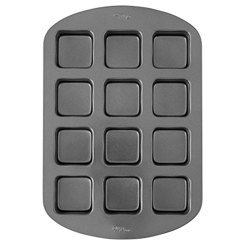 Wilton Perfect Results Premium Non-Stick Bakeware Bar Baking Pan, Ideal for Brownies, Cakes and Bar-Cookies, 12-Cavity