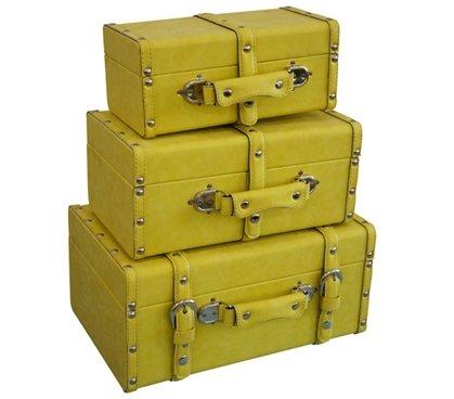 DormCo College-Ave Mini-Trunks (Set of 3) - Yellow by DormCo