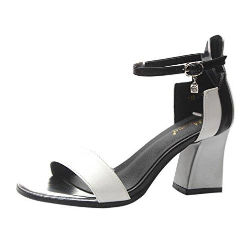 SANFASHION Chaussures Femme Sandale a Talon Chic Escarpins Paillettes Confortables