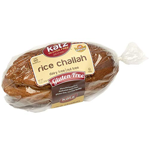 Katz Gluten Free Rice Challah | Dairy, Nut and Gluten Free | Kosher (1 Pack of 1 Loaf, 12 Ounce) ()