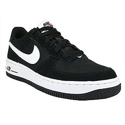Nike Kids Air Force 1 (GS) Black/White 596728-026 (4Y)
