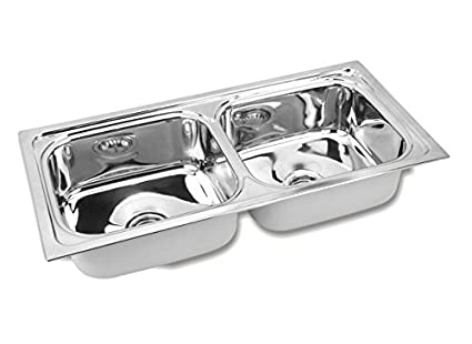Gargson kitchen sink double bowl stainless steel sink size 45 x 20 gargson kitchen sink double bowl stainless steel sink size 45 x 20 x 9 workwithnaturefo