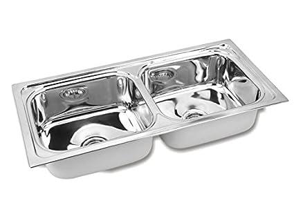 Gargson Kitchen Sink, Double Bowl Stainless Steel Sink, Size 45 X ...