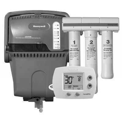 Honeywell TrueSTEAM Humidification System with HumidiPRO and RO Filter Kit-Black and White - H6062A1000/U YHM506-2