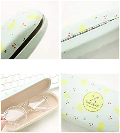 Pineapple Healifty 1pc Cartoon Fruit Pattern Glasses Case Cute PU Sunglasses Storage Box Spectacle Case