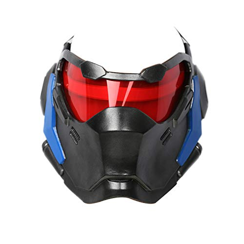 OW Soldier 76 Weapon Mask Cosplay Jack Morrison Led Light Helmet Game Anime Costume Accessory Prop]()