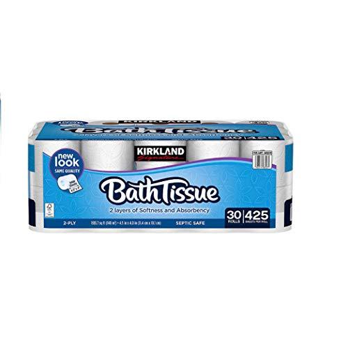 Kirkland Signature Bath Tissue, 2-Ply, 425, 2 Pack (30 count)