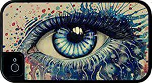 Colorful Eye Art iPhone 4 Tough Case Black, Apple iPhone 4s Tough Cover Black, by Sublifascination 1