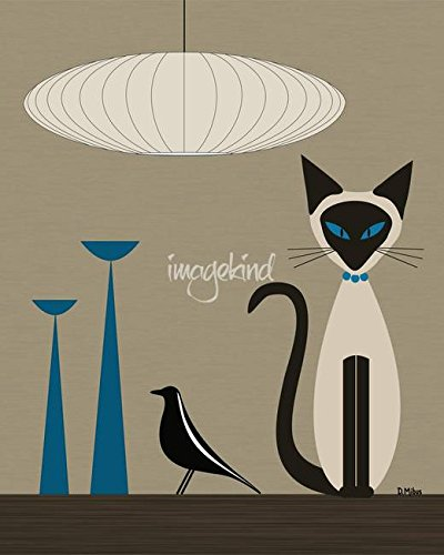 Imagekind Wall Art Print Entitled Siamese with Eames for sale  Delivered anywhere in USA