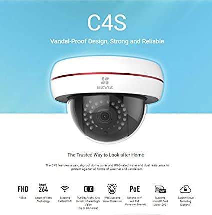 Ezviz C4S 1080P WI-FI Outdoor Internet Dome Camera with