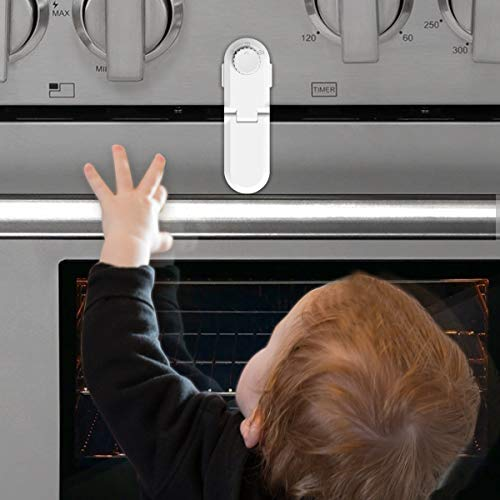 Child Safety Oven Door Lock - Oven Front Double Lock Double 3M Sticker-Universal Baby Proof Lock for Ovens, Cabinet, Stoves & Microwaves - Easy to Install & No Tools Required (1 Pack) (Lock Oven)