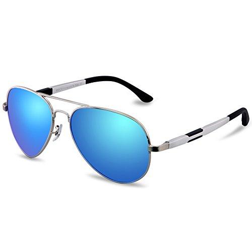 DUCO Premium Aviator Style Polarized Sunglasses 100% UV protection - 3026 Aviator