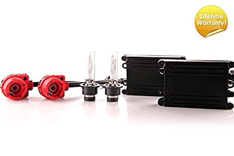 DDM Tuning 55W AC HID Conversion Slim Kit,, Slim Digital Ballasts, D2S, 8000K (D2s Corolla)