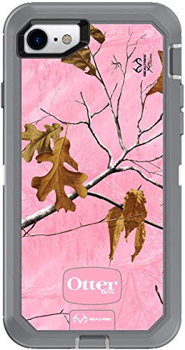 OtterBox Defender Series Case for iPhone 8 and iPhone 7 (NOT Plus) - Case Only - Non-Retail Packaging - Realtree Pink ()