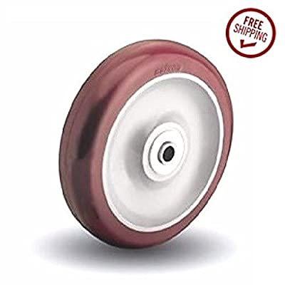 "Colson 4"" x 1-1/4"" Polyurethane Wheel with 3/8"" ID 275lbs. Cap."