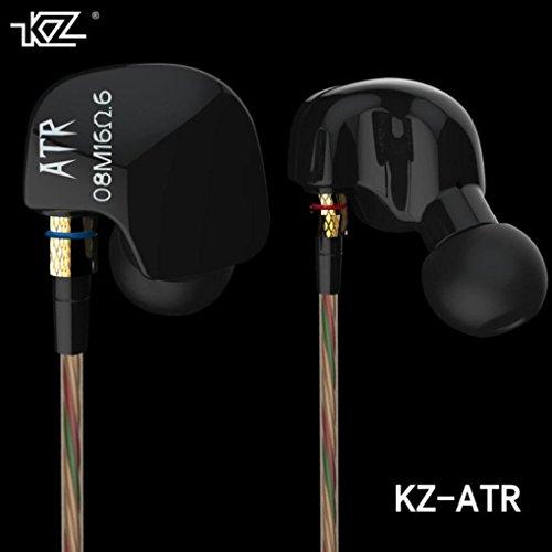 (In Ear Earphone,Tuscom@ KZ ATR 3.5mm Dynamic Stereo Bass HIFI Earbuds Headset With MIC)