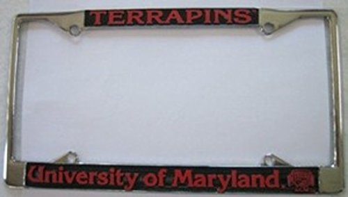 Maryland Terps Chrome License Frame. Free Screw Caps Included ()