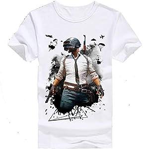 DigiProwTM PUBG Game, PUBG Player Printed Round Neck Matte Cotton T-Shirt for Kids Boys & Girls