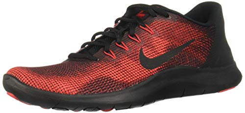 Nike Boy's Flex RN 2018 Running Shoe Black/University Red/Team Red Size 3 M US by Nike (Image #1)
