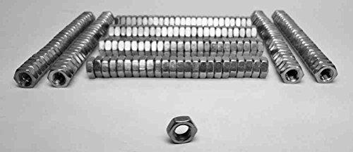 (Steinjäger Nuts Bulk Jam Fasteners, Bulk 5/8-18 LH 200 Pack Grade 5 Plated Zinc Silver)