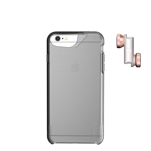 olloclip 4-In-1 Photo Lens + olloCase for iPhone 6 and iPhone 6s - Lens Rose Gold - Case: Matte Clear/Clear OC-0000204-EU