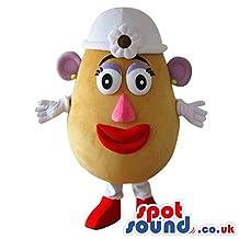 Popular Mr. Potato Lady Toy Character Plush SPOTSOUND LTD Mascot Costume With Red Nose