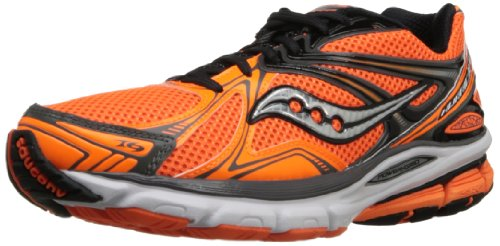 Saucony Men's Hurricane 16 Running Shoe,Vizi Orange/Black/Silver,7 M US