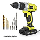 CACOOP CCD20001LBB 20V MAX 1.5 Ah Lithium-Ion Cordless Drill/Driver Set, With 1 20V Battery pack, 1 Rapid charger, 6 HSS wood drill bits, 6 Screwdriver bits, 1 Magnetic bit holder and 1 Belt hook Review
