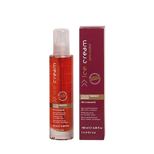 Inebrya Ice Cream Pro-Color Perfect Serum 100ml/3.38oz with Free Starry Lip plumping gloss tube 10ml