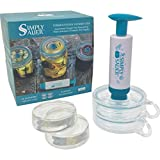 Fermentology Simply Sauer Vegetable Fermentation Kit for Wide Mouth Mason Jars – Oxygen Pump, Airlocks, and Glass Weights – 5 Piece Kit