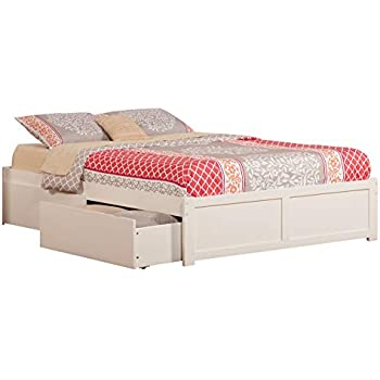b4d812180 Atlantic Furniture AR8042112 Concord Platform Bed with 2 Urban Bed Drawers