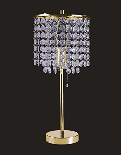 SH Lighting SH-8315G(U) Crystal Inspired Table/Floor Lamp Collection, Gold