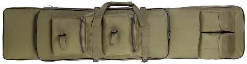 LUVODI Bolsa para Rifle Funda para Armas Pistola Bolsa de Almacenamiento con Correa de Hombro para Caza Pesca Mochila de Nylon Impermeable 100 x 30 x 7 cm